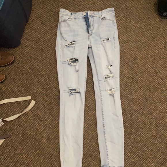 Garage high rise  ripped skinny jeans